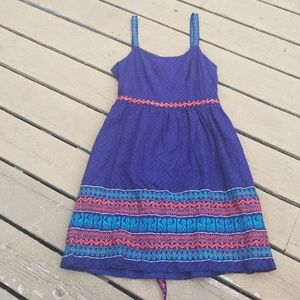 Gorgeous Anna Sui for Anthropologie navy dress